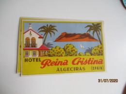 Lot De 2 Hotel Reina Cristania Algeciras Hotel Etiquette Hotel Valise Luggage - Etiquettes D'hotels