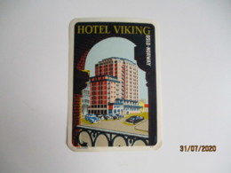 Hotel Wiking Oslo Norway Norvege  Hotel Etiquette Hotel Valise Luggage - Etiquettes D'hotels