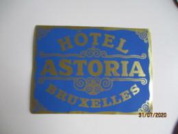 Bruxelles Hotel Astoria  Hotel Etiquette Hotel Valise Luggage - Etiquettes D'hotels