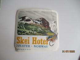 Lot De 2 Skei Hotel  Jolster Norway Etiquette Hotel Valise Luggage - Etiquettes D'hotels