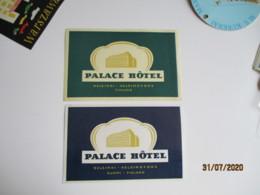 Helsinski Lot 2 Etiquette Palace Hotel Finlande Etiquette Hotel Valise Luggage - Etiquettes D'hotels