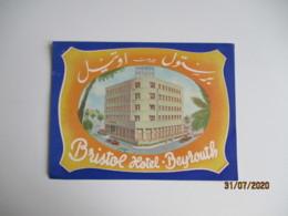 Beyrouèth Bristol Hotel Etiquette Hotel Valise Luggage - Etiquettes D'hotels