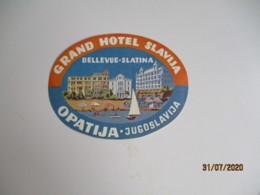 Optija Yoiugoslavie  Grand Hotel Salvia Hotel Etiquette Hotel Valise Luggage - Etiquettes D'hotels
