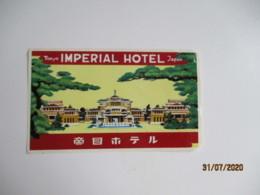 Imperial Hotel Tokyo Japon Japan Hotel Etiquette Hotel Valise Luggage - Etiquettes D'hotels