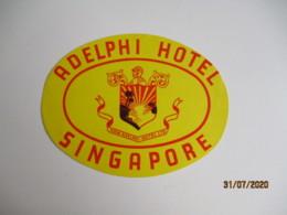 Singapour Singapore Adelphi Hotel Hotel Etiquette Hotel Valise Luggage - Etiquettes D'hotels
