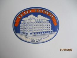 San Luis Maranhao Bresil Hotel Central Hotel Etiquette Hotel Valise Luggage - Etiquettes D'hotels