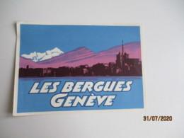 Geneve  Les Bergues Etiquette Hotel Valise Luggage - Etiquettes D'hotels