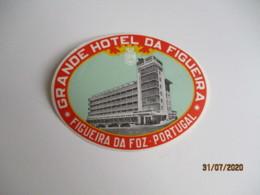 Figueiras Da Foz Portugal Hotel Etiquette Hotel Valise Luggage - Etiquettes D'hotels