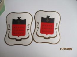 Lot De 2 Athenes Atens Grece King Palace  Etiquette Hotel Valise Luggage - Etiquettes D'hotels