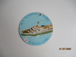 Paquebot Kansai Line Ms Kurenai Maru Etiquette Hotel Valise Luggage - Etiquettes D'hotels