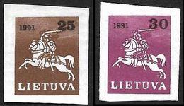 LITUANIE 1991-  YT  412A Et  412B  Non Dentelés  - NEUFS** - Cote 5e - Lithuania