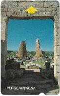 Turkey - Alcatel - PTT - 3rd Series (15mm) 1994, T-37 - Perge Ruins, Antalya, 30U, Used - Turquie