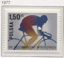 POLAND 1977 Mi 2505 XXX Peace Race, Cyclist, Bike, Sport MNH  ** - Cycling