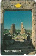 Turkey - Alcatel - PTT - 3rd Series (15mm) 1994, T-39 - Perge Ruins, Antalya, 100U, Used - Turquie