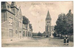 Bourg-Léopold - La Poste & L'Eglise 1920 (Geanimeerd) - Leopoldsburg