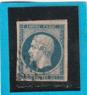 N° 14 A    -   Pour Planchage - LOT JC + Variété  - Signé - 1853-1860 Napoléon III