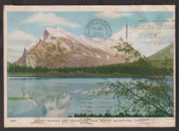 Canada - Postcard - Mount Rundle And Vermilion Lake - 1951 - Circulee - A1RR2 - Unclassified