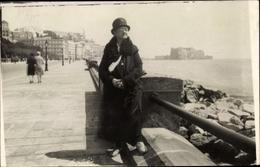 Cp Napoli Neapel Campania, Promenade, Dame M. Hut, Portrait - Italia