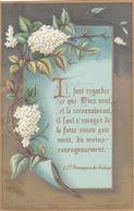 IMAGE PIEUSE Religieuse En 1880 En Couleur De Bouasse Jeune - Religion Catholique Catholicisme - PUBLICITE EDITEUR - Andachtsbilder