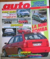 AUTO - N.1 - GENNAIO 1992 - ANNO VIII - MERCEDES 600 SEL - AUDI 80 2.0 - OPEL ASTRA 2.0 GSi - RENAULT CLIO 1.4 - Motori