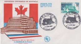 Enveloppe  FDC   1er  Jour   REUNION     Exposition  Universelle   MONTREAL     SAINT  DENIS   1967 - 1967 – Montreal (Canada)