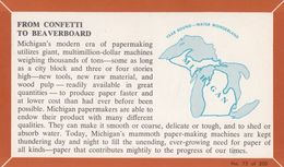 MICHIGAN, 1940-60s; Fact Card, No. 75 Of 200, From Confetti To Beaverboard - Etats-Unis