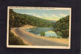 95223    Stati  Uniti,   Scene On Wm.  Penn Highway At  Prince Gallitzin Spring,  Near  Altoona,  Pa.,  VG  1943 - Etats-Unis