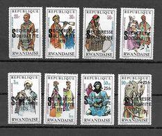 Rwanda 1975 Costumes Of 1970 Ovp SECHERESSE SOLIDARITE MNH - Rwanda