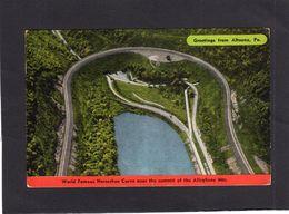95225    Stati  Uniti,   Greetings  From  Altoona,  Pa.,  World Famous Horseshoe Curve,  VG  1951 - Etats-Unis