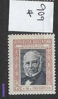 ARGENTINA 1944 Postal Service Charity  HINGED Rowland Hill (1795-1879)Rowland Hill (1795-1879) GJ# 909 - Nuevos