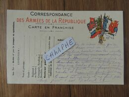 CORRESPONDANCE AUX ARMEES DE LA REPUBLIQUE - CARTE EN FRANCHISE - MILITARIA GUERRE 1914 1918 - Weltkrieg 1914-18