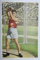 Foto Cromo Olimpiada De Los Ángeles. 1932. Nº 55. Atletismo. Lanzamiento De Peso. Irlanda, 0'Callaghan Hecho 1936 Berlín - Trading Cards