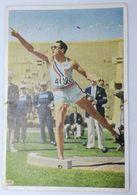 Foto Cromo Olimpiada De Los Ángeles. 1932. Nº 81. Atletismo. Lanzamiento De Peso. USA, Wilson Charles. Hecho 1936 Berlín - Trading Cards
