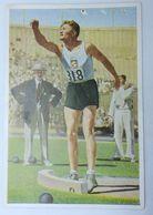 Foto Cromo Olimpiada De Los Ángeles. 1932. Nº 82. Atletismo. Lanzamiento De Peso. Letonia, Janis Dimsa Hecho 1936 Berlín - Trading Cards