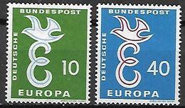 ALLEMAGNE     -    1958   -    EUROPA   .  Y&T N° 164 à 165 ** - Europa-CEPT