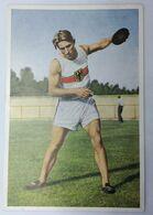 Foto Cromo Olimpiada De Los Ángeles. 1932. Nº 86. Atletismo. Lanzamiento De Disco. Alemania, Wolrath Eberle - Trading Cards