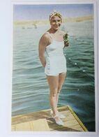 Foto Cromo Olimpiada De Los Ángeles. 1932. Nº 100. Natación. Buceo. USA, Dorothy Poynton. Hecho En 1936 Olimpiada Berlín - Trading Cards