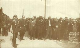 FOTOKAART TRANSPORT BELGISCHER FRANKTIREURS AT. BECK OHRDRUF FRANC TIREUR KRIEGSGEFANGENEN 1914/15 WWI WWICOLLECTION - Weltkrieg 1914-18
