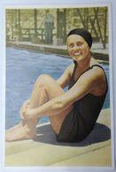 Foto Cromo Olimpiada De Los Ángeles. 1932. Nº 113. Natación. Suecia, Miss Ingeborg Sjöquist. Hecho En 1936 Berlín - Trading Cards