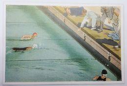 Foto Cromo Olimpiada De Los Ángeles. 1932. Nº 120. Natación. USA, Helene Madison, Saville. Holanda, Den Ouden - Trading Cards