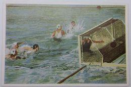 Foto Cromo Olimpiada De Los Ángeles. 1932. Nº 131. Natación. Waterpolo. Alemania - USA. Hecho En 1936 Olimpiada Berlín - Trading Cards