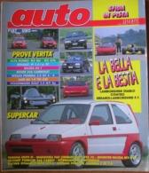 AUTO - N.7 - LUGLIO 1992 - ANNO VIII - RENAULT 19 1.4 2V - NISSAN PRIMERA 2.0 GT 4X4 - VW GOLF 2.0 GTi - MAXDA RX7 COUPE - Motori