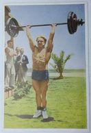 Foto Cromo Olimpiada De Los Ángeles. 1932. Nº 154. Halterofilia. Alemania, Rudolf Ismayr. Hecho En 1936 Olimpiada Berlín - Trading Cards