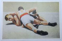 Foto Cromo Olimpiada De Los Ángeles. 1932. Nº 160. Lucha Grecorromana. Dinamarca, Földeak, Jensen. Hecho En 1936 Berlín - Trading Cards