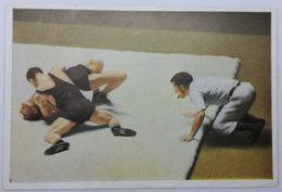 Foto Cromo Olimpiada De Los Ángeles. 1932. Nº 161. Lucha. Inglaterra - Grecia. Hecho En 1936 Para Olimpiada De Berlín - Trading Cards