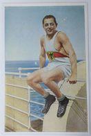 Foto Cromo Olimpiada De Los Ángeles. 1932. Nº 164. Lucha. Alemania, Jakob Brendel. Hecho En 1936 Para Olimpiada Berlín - Trading Cards