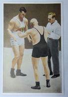 Foto Cromo Olimpiada De Los Ángeles. 1932. Nº 165. Lucha Grecorromana. Alemania, Gehring. Suecia, Westrergren - Trading Cards