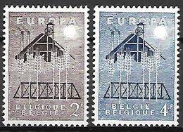BELGIQUE     -    1957  -    EUROPA   .  Y&T N° 1025 à  1026  ** - 1957