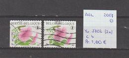 België 2007 - Yv. 3702 (2x) - OCB 3722/a Gest./obl./used - Belgium
