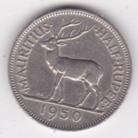 Ile Maurice 1/2 Rupee 1950 George VI. KM# 28 - Mauritius